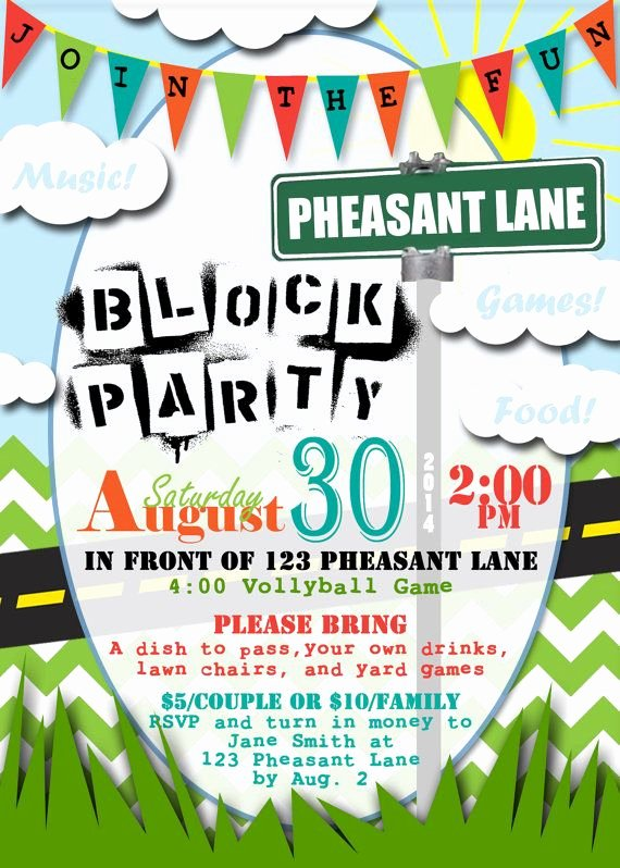 Neighborhood Block Party Flyer Template Beautiful 25 Best Ideas About Block Party Invites On Pinterest