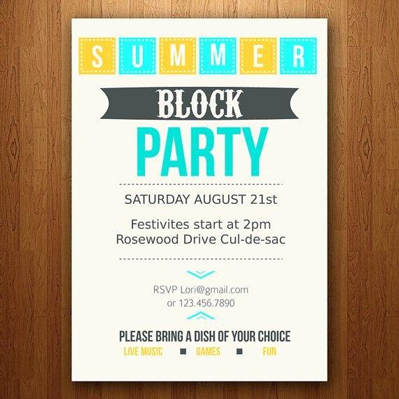 Neighborhood Block Party Flyer Template Beautiful Best 25 Block Party Invites Ideas On Pinterest
