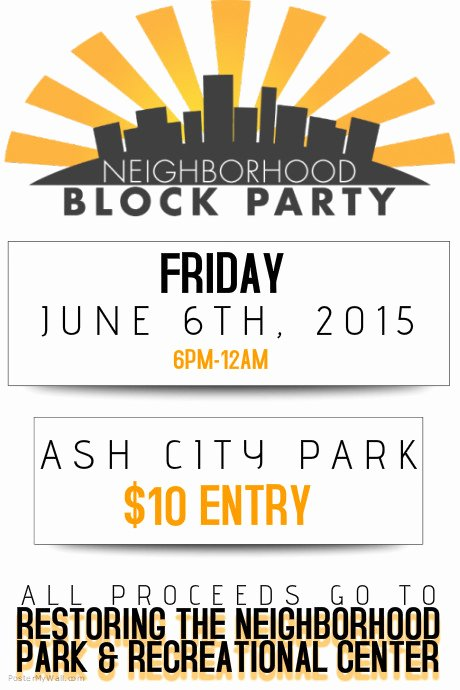 Neighborhood Block Party Flyer Template Best Of Neighborhood Block Party Flyer Poster Template