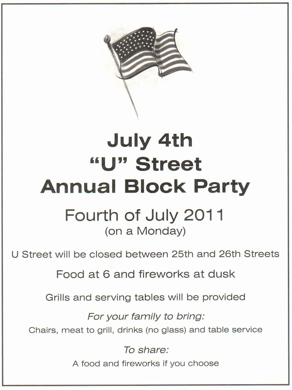 Neighborhood Block Party Flyer Template Best Of Newton Booth Neighborhood Blog
