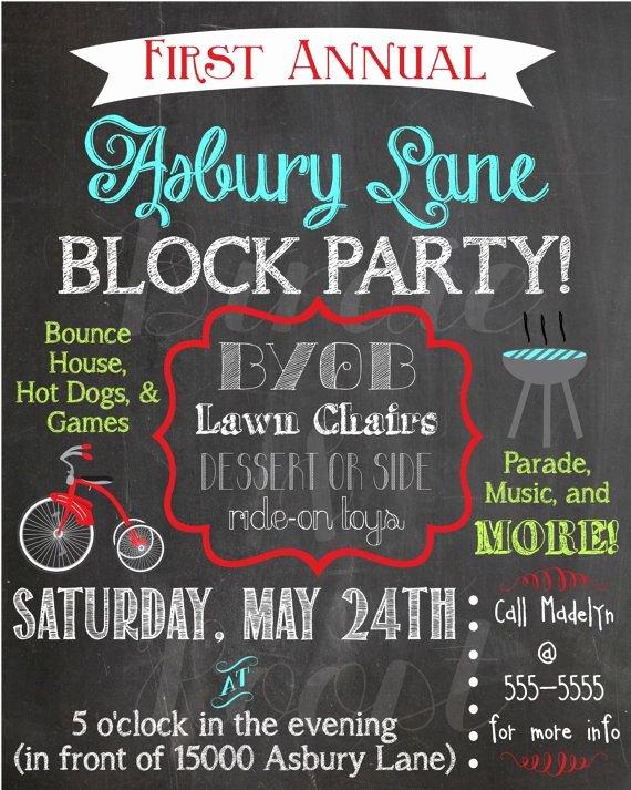 Neighborhood Block Party Flyer Template Elegant Best 25 Block Party Invites Ideas On Pinterest