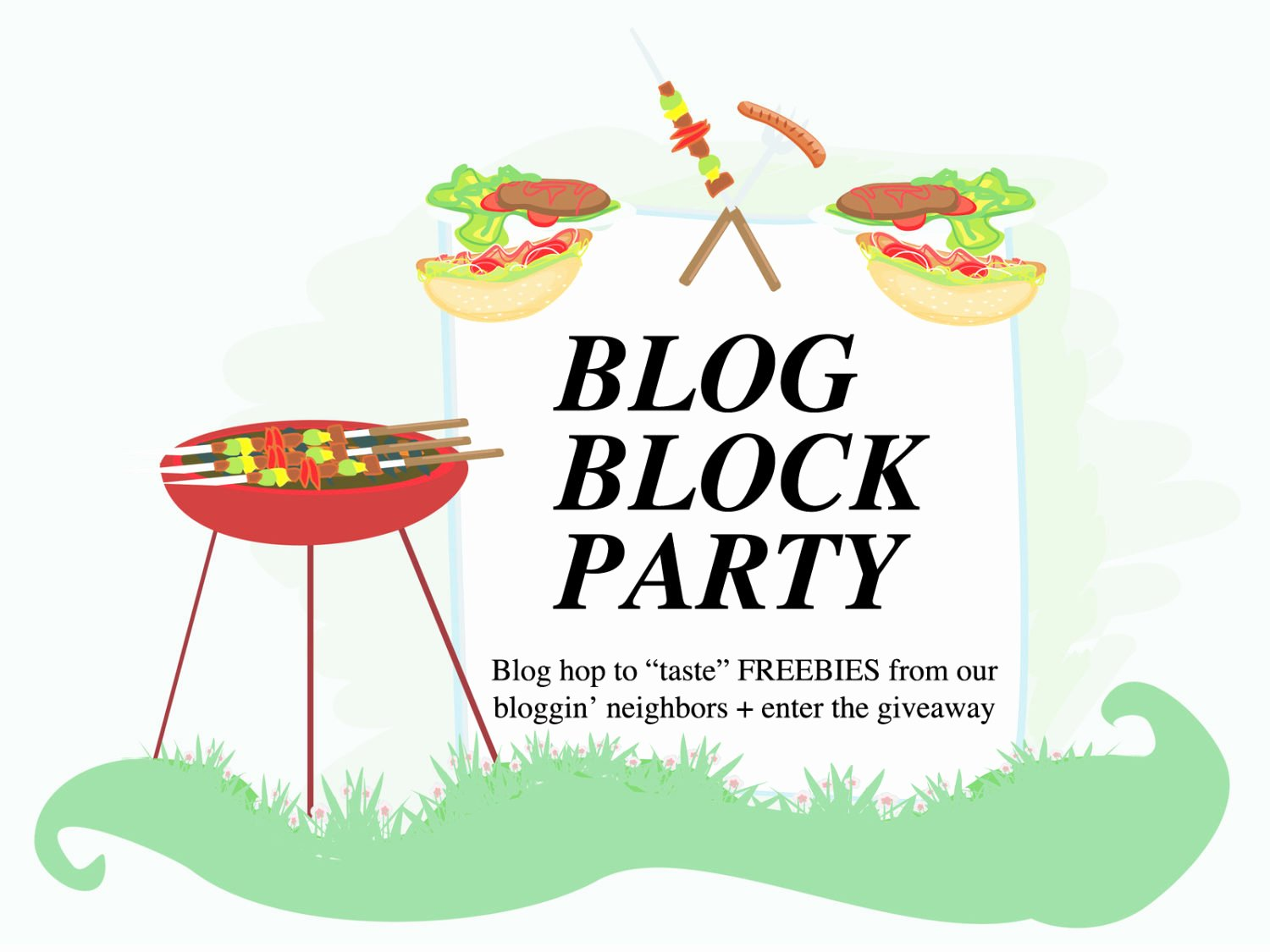 Neighborhood Block Party Flyer Template Elegant Blog Block Party Blog Hop to Taste Freebies From Our