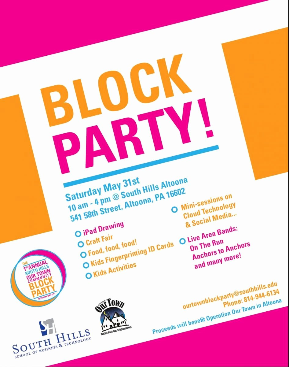 Neighborhood Block Party Flyer Template Elegant Munity Block Party May 31