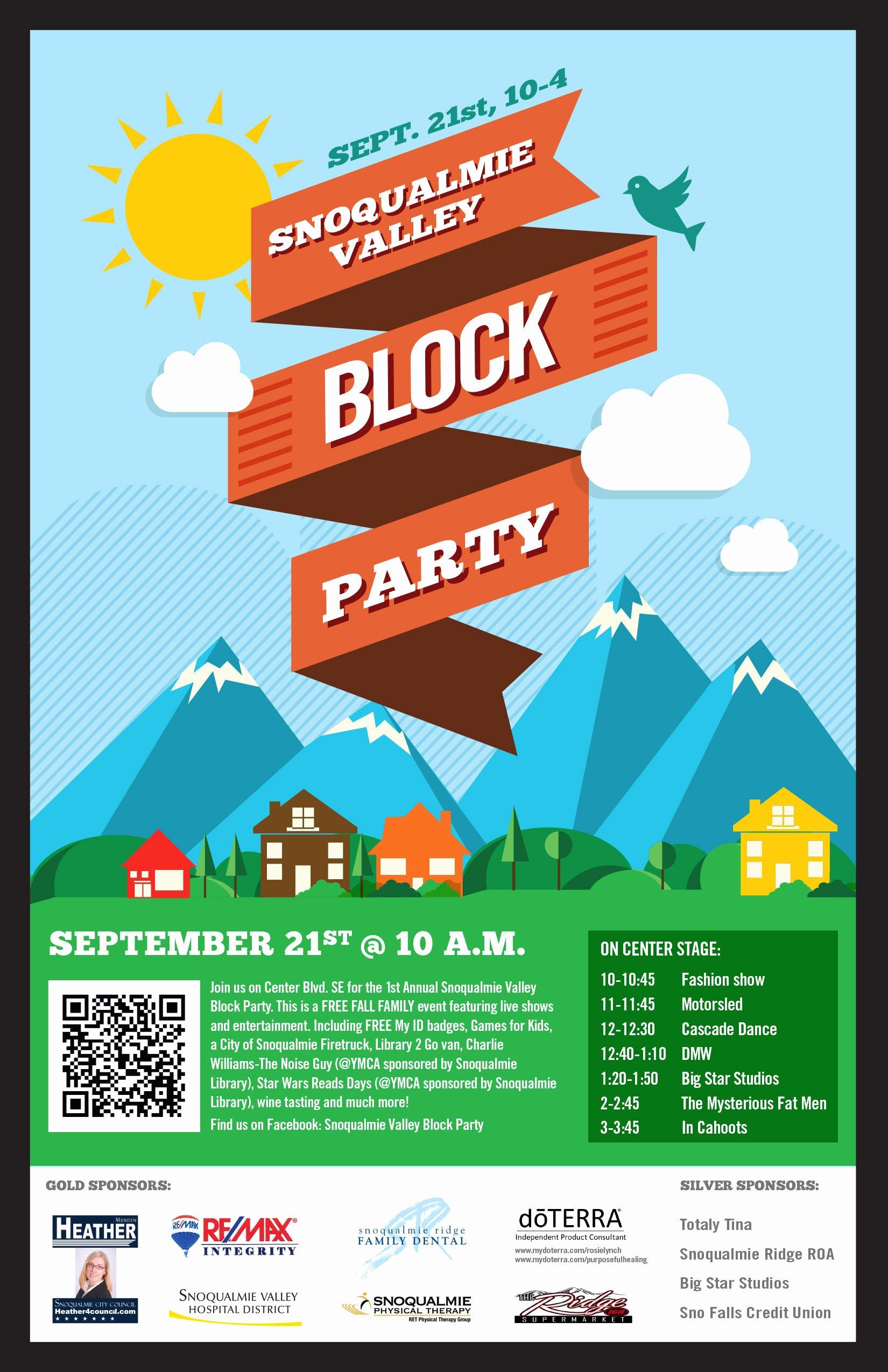 Neighborhood Block Party Flyer Template Elegant September 2013