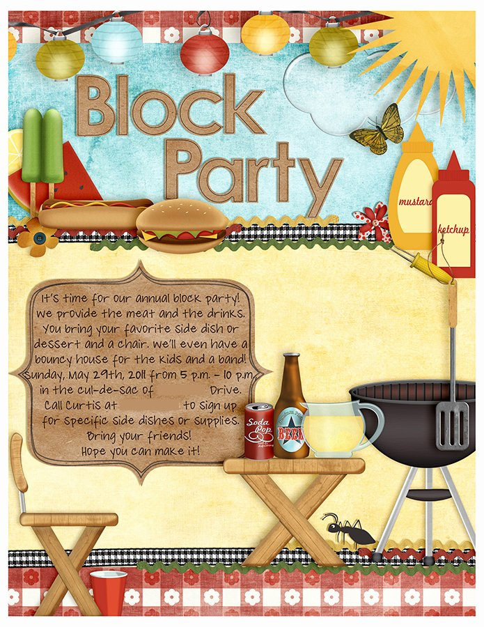 Neighborhood Block Party Flyer Template Fresh Annual Block Party Holly Anissa