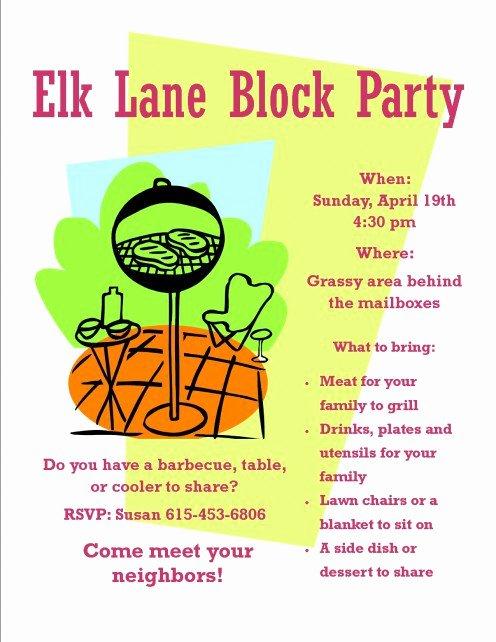 Neighborhood Block Party Flyer Template Fresh How to organize A Neighborhood Block Party