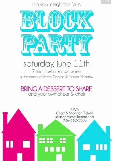 Neighborhood Block Party Flyer Template Fresh Neighborhood Block Party Flyer Template Yourweek