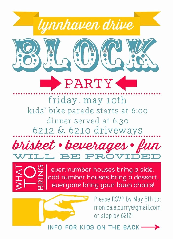 Neighborhood Block Party Flyer Template Inspirational 25 Best Ideas About Block Party Invites On Pinterest