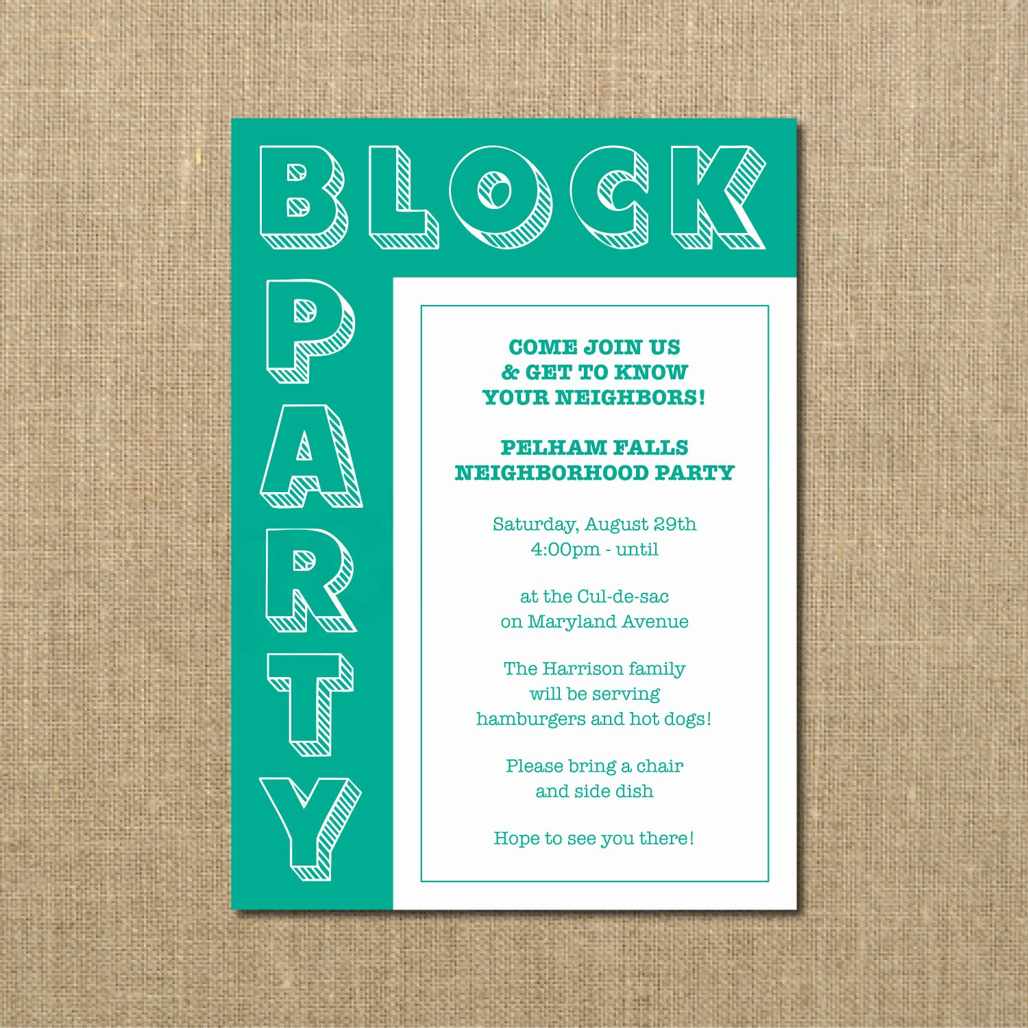 Neighborhood Block Party Flyer Template Inspirational Neighborhood Block Party Cookout Invitation Grilling Out