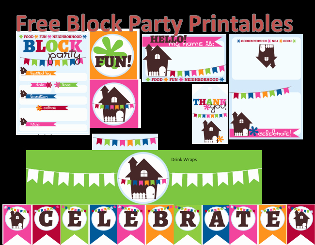Neighborhood Block Party Flyer Template Lovely Neighborhood Block Party Printables Free