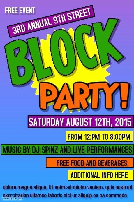 Neighborhood Block Party Flyer Template Luxury Free Block Party Flyer Template Neighborhood Clip Art