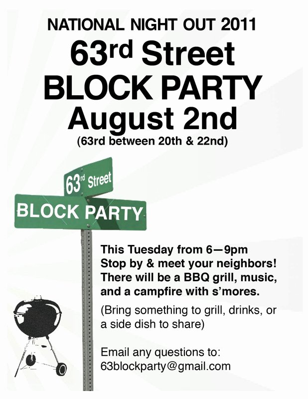 Neighborhood Block Party Flyer Template New Ballard Neighborhood Block Party