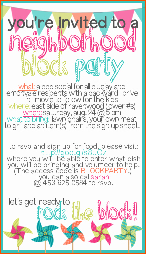 Neighborhood Block Party Flyer Template New How to Throw A Block Party Printable Invitation Template