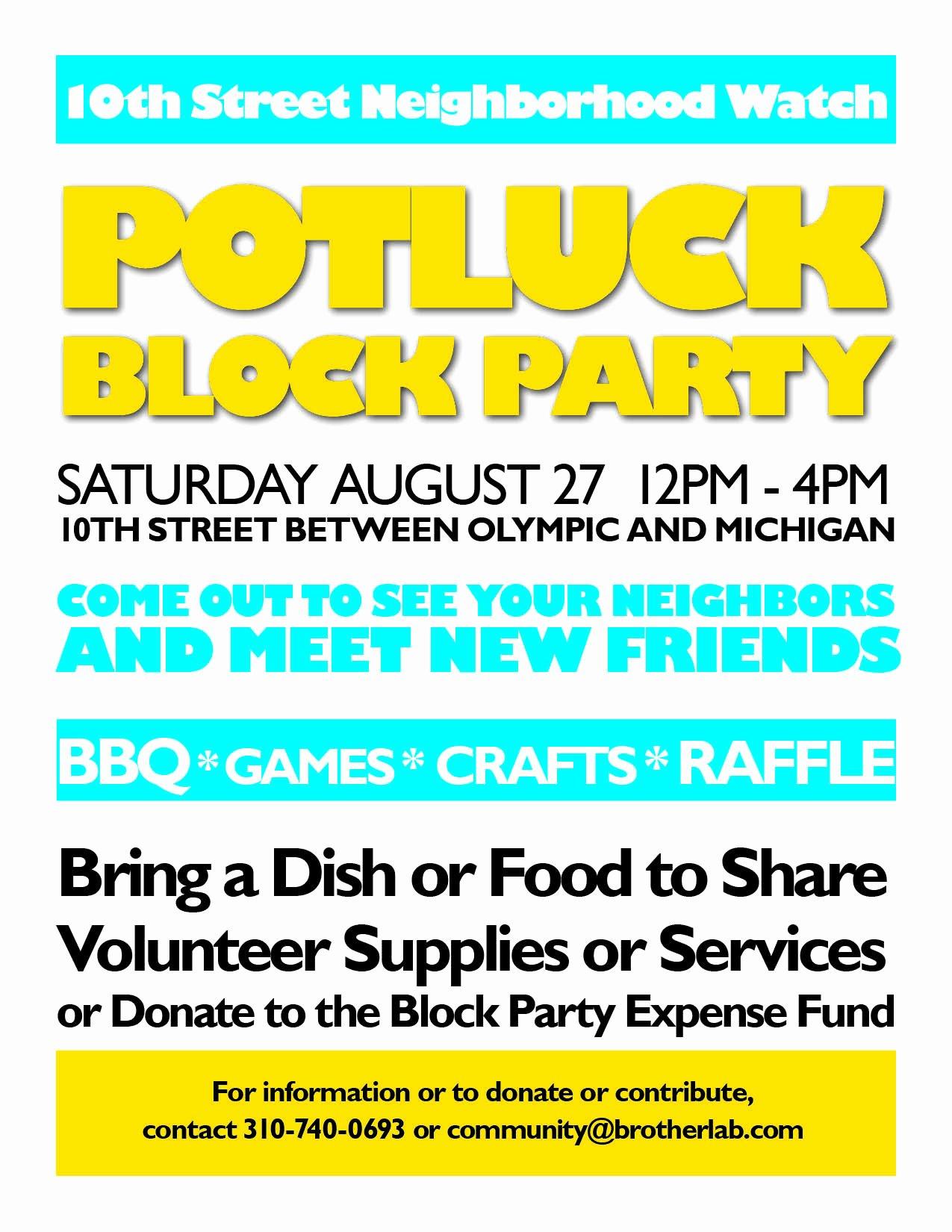 Neighborhood Block Party Flyer Template Unique August 2011