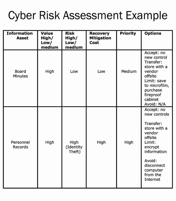 Network Risk assessment Template Unique Network Security Risk assessment Template