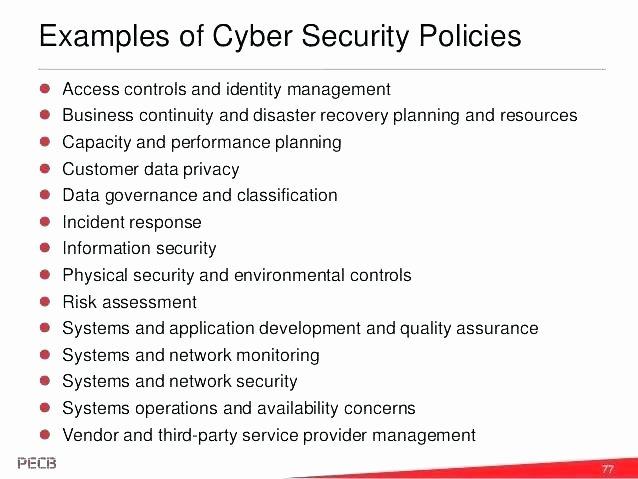 Network Security Policy Template Awesome Features Security Policy Template Information Example
