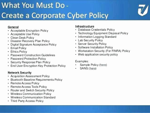 Network Security Policy Template Inspirational Pany Cyber Security Policy Template