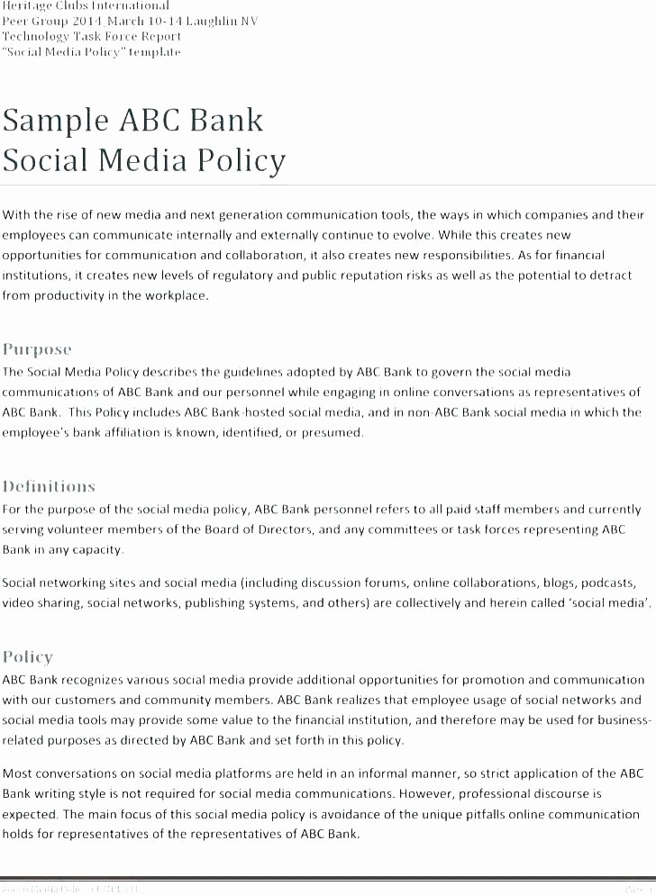 Network Security Policy Template Luxury Employee social Media Policy these Guidelines Apply to