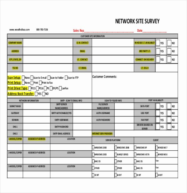 Network Site Survey Template Awesome 12 Site Survey Templates – Pdf Word