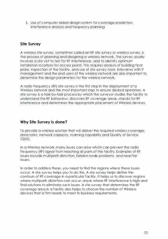 Network Site Survey Template Luxury Site Survey Template New Trial Report Awesome Analysis