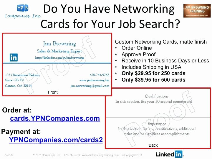 Networking Business Card Template New Examples Business Cards for Job Seekers the Slur