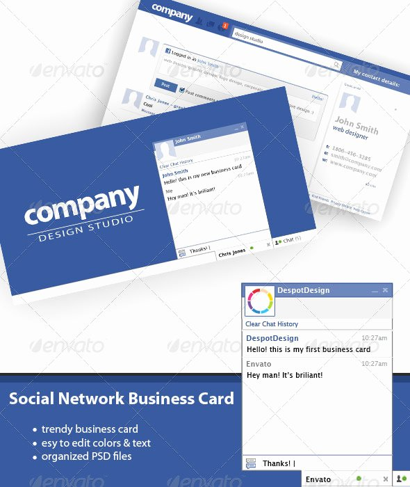Networking Business Card Template Unique Print Template Graphicriver social Network Business Card