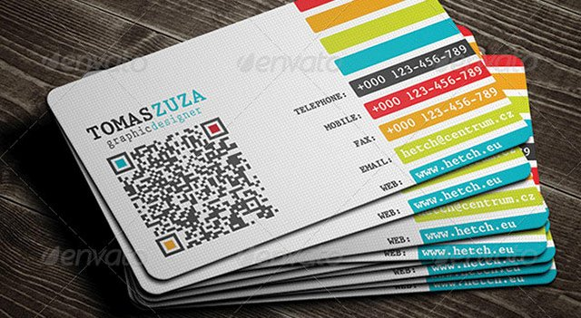 Networking Business Cards Template Elegant 25 Qr Code Business Card Templates