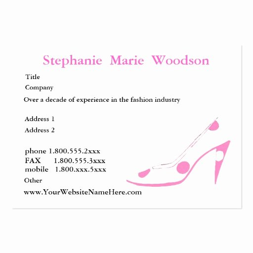 Networking Business Cards Template Fresh social Networking High Heel Shoe Pink Business Card