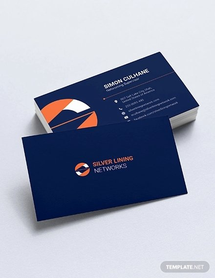 Networking Business Cards Template New 33 Information Technology Business Card Templates In Word