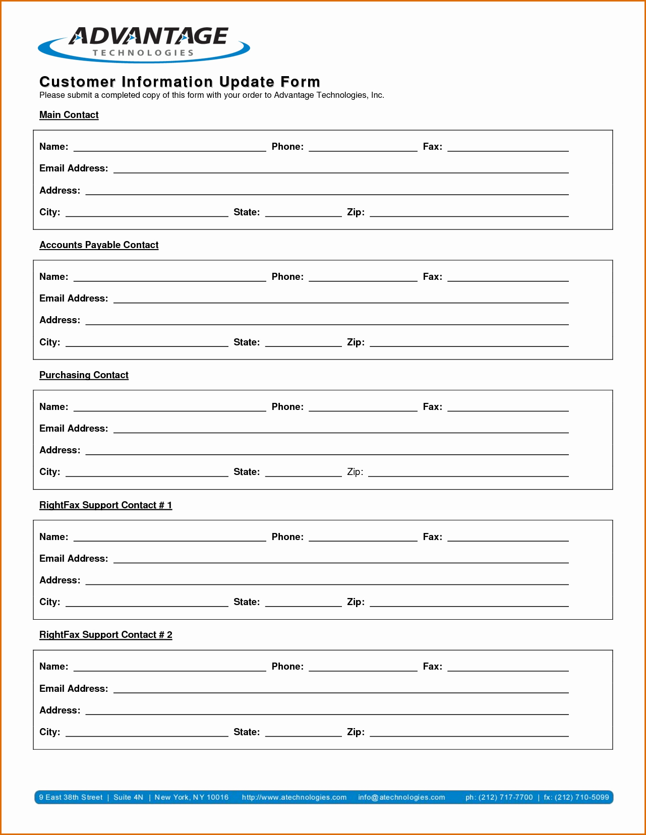 New Customer form Template Word Fresh 13 Customer Information form Template