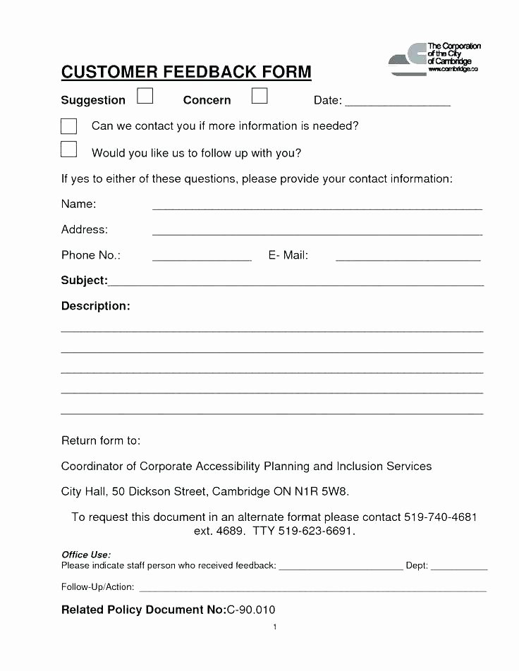 New Customer form Template Word Fresh Customer Contact Information form – Puebladigital