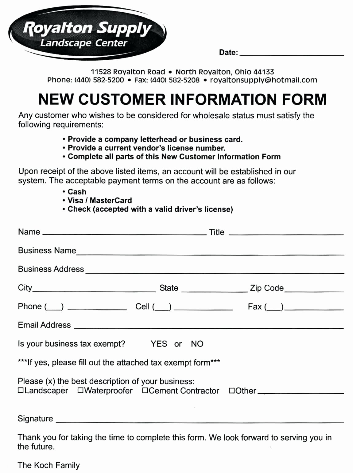 New Customer form Template Word Inspirational Template Customer Information form Template Word