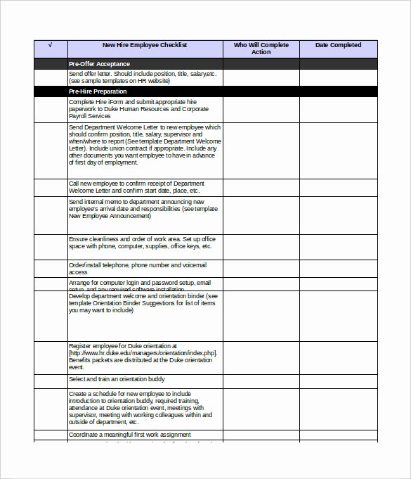 New Employee orientation Checklist Template Best Of New Employee orientation Checklist Excel