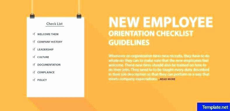 New Employee orientation Checklist Template New New Employee Checklist Template Free Personalized Hire