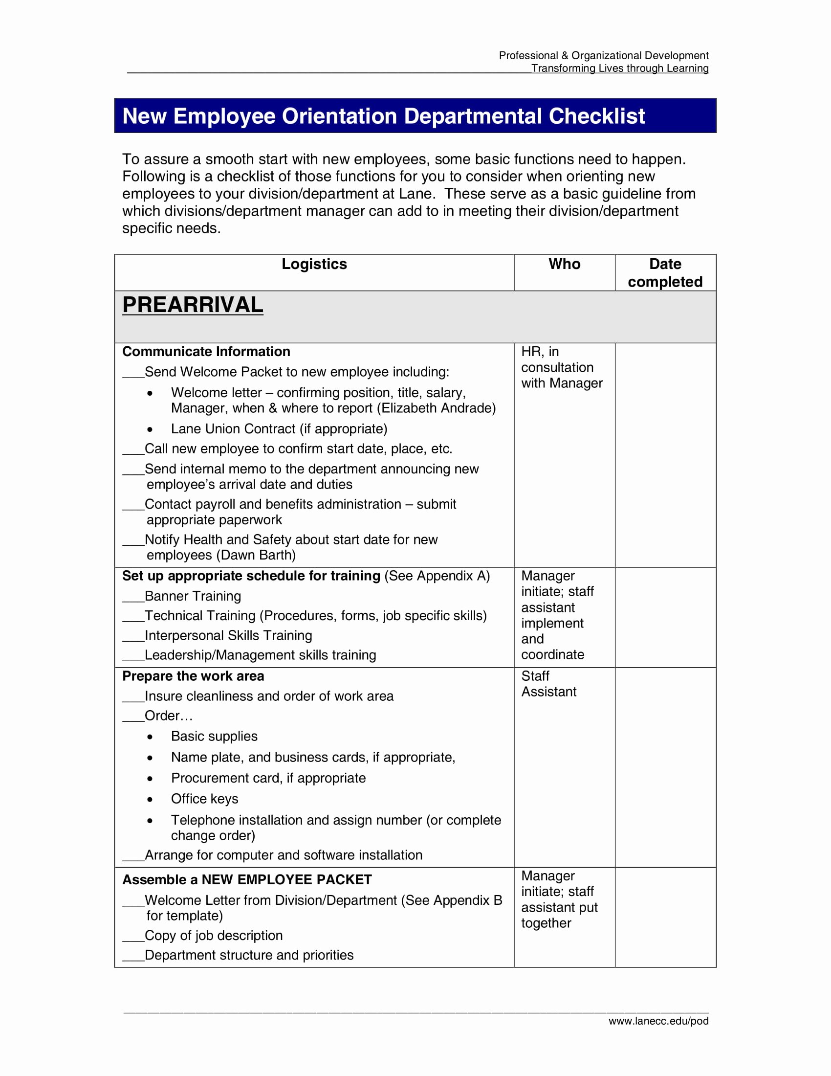 New Employee orientation Checklist Template Unique 9 New Employee orientation Checklist Examples Pdf