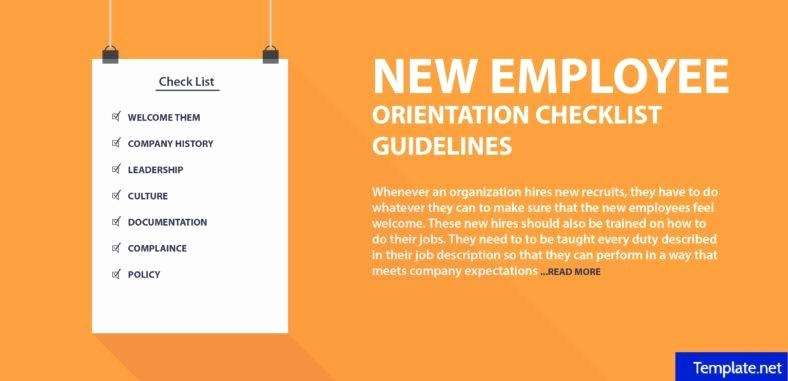 New Employee orientation Template Inspirational 2 New Employee orientation Checklist Templates Word