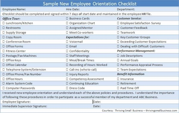 New Employee orientation Template Lovely Sample New Employee orientation Checklist