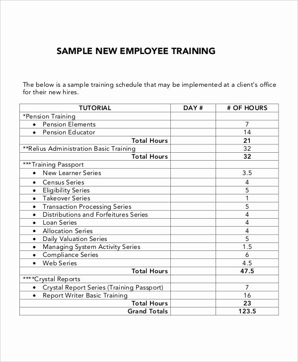 New Employee Training Plan Template Fresh 5 Employee Training Plan Templates Free Samples
