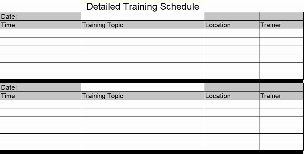 New Employee Training Plan Template Fresh Download Employee Training Schedule Template for Pany