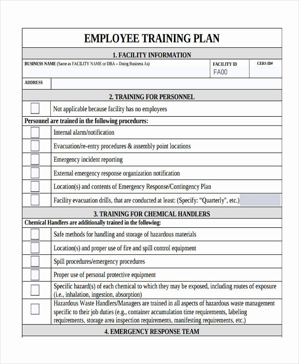 New Employee Training Plan Template New 8 Training Plan Examples Samples