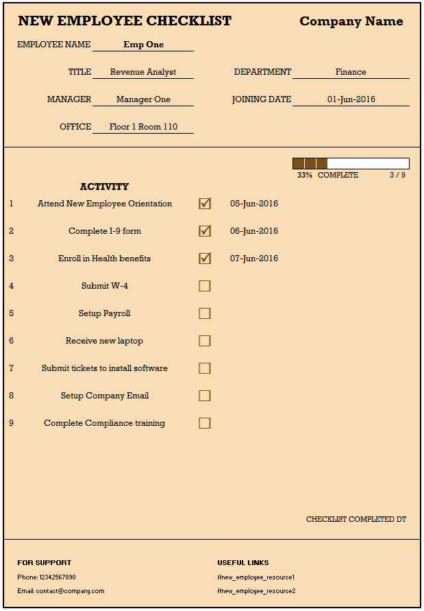 New Hire Checklist Template Excel Luxury Checklist for New Hire New Employee Checklist Excel