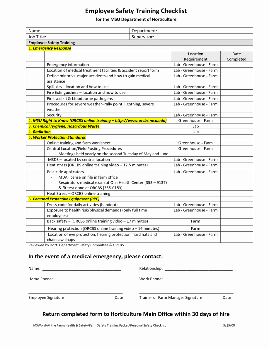 New Hire Checklist Template Excel New New Employee Checklist Templates Letter Examples Template