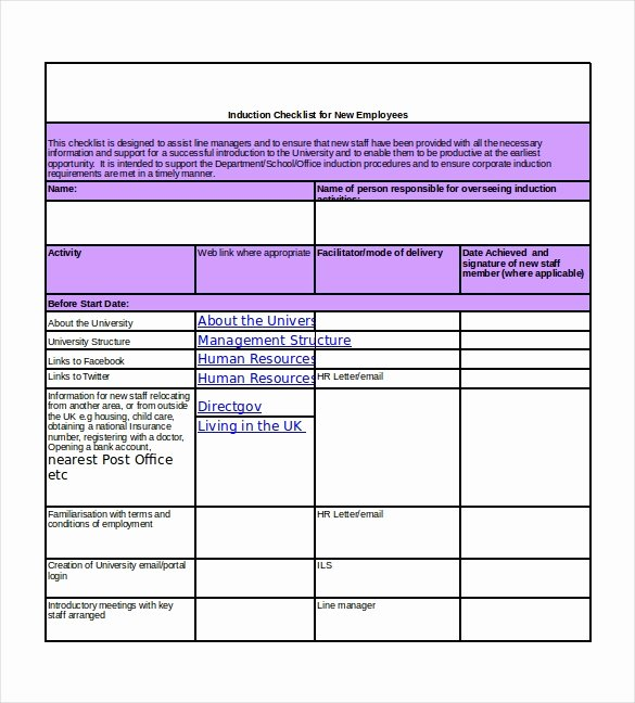 New Hire Checklist Template Excel New New Hire Checklist Templates – 16 Free Word Excel Pdf