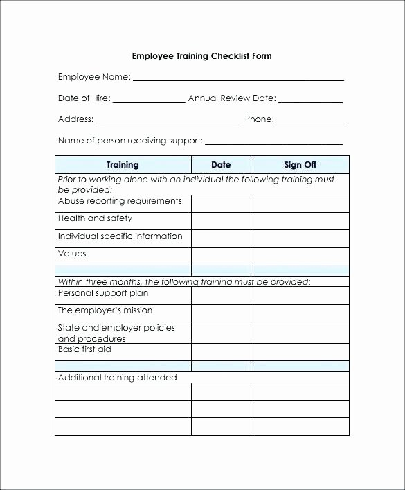 New Hire Checklist Template Word Inspirational New Employee orientation Checklist Template Word and Excel