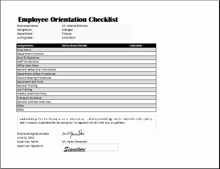 New Hire Checklist Template Word Luxury 2 3 Checklist for New Employees Template