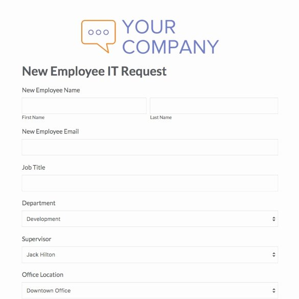 New Hire form Template Awesome New Joinee form format Baskanai