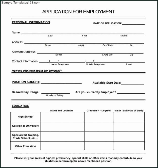 New Hire form Template Awesome New Stock New Hire forms Template