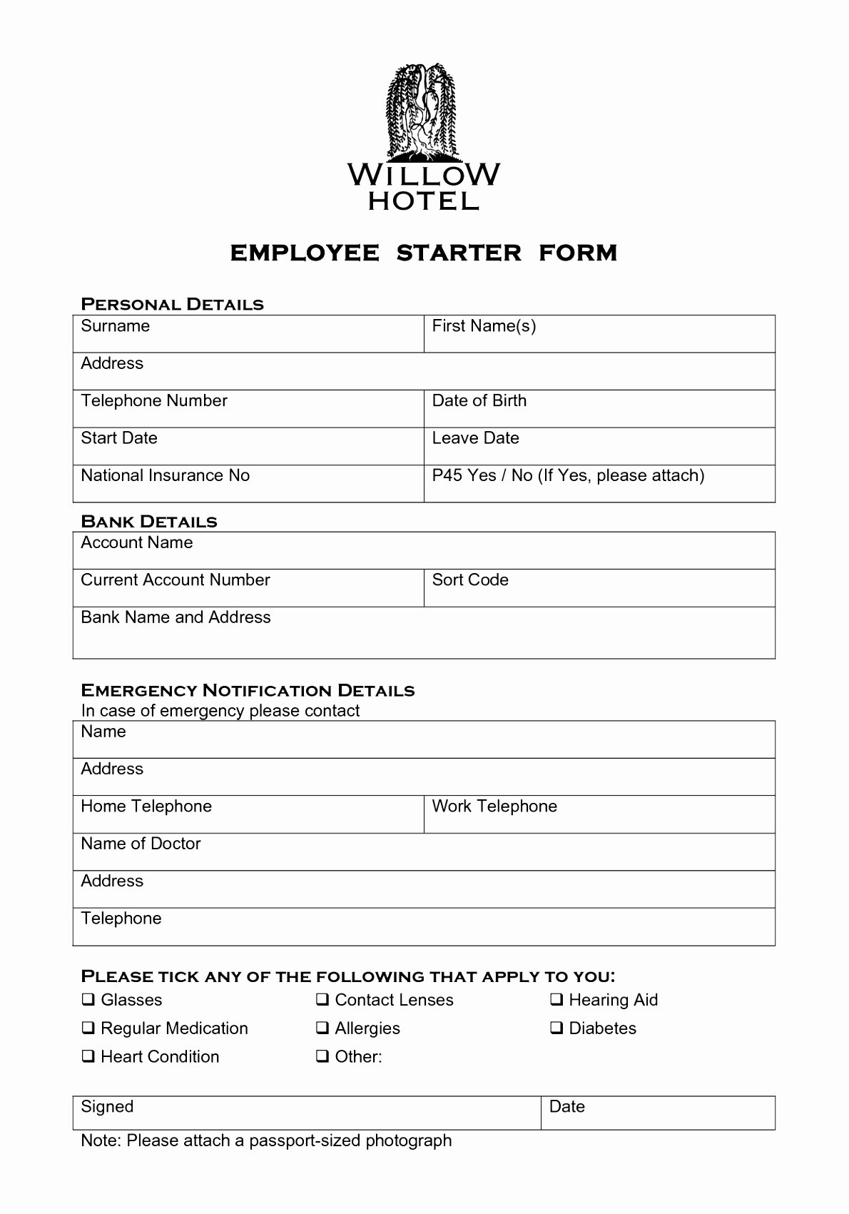 New Hire form Template Beautiful 6 New Hire forms Template Euyru