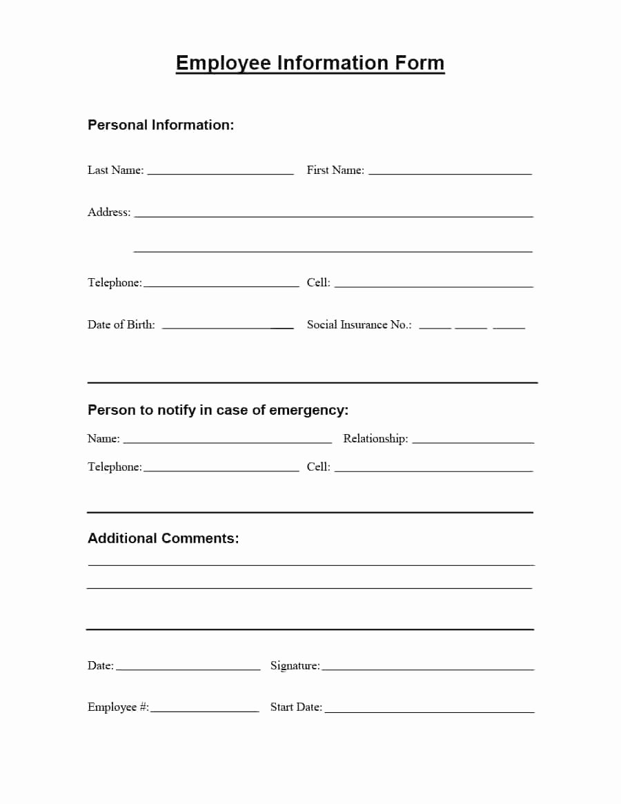 New Hire form Template Best Of New Hire forms Elegant Employee New Hire form Template – 3axid