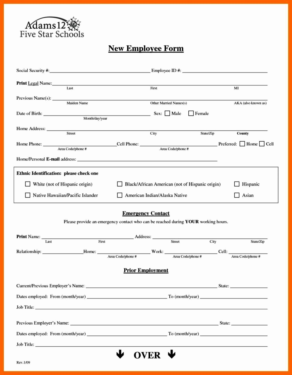 New Hire form Template Elegant New Hire forms Template Sampletemplatess Sampletemplatess